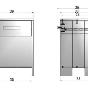 Dennis nachtkastje betongrijs 2 Slapen Online