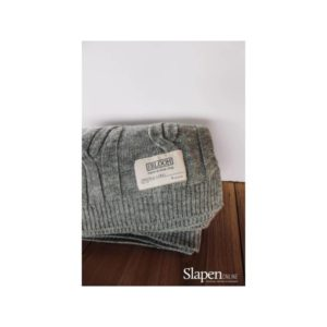 MrsBloom Cable throw light grey slapenonline