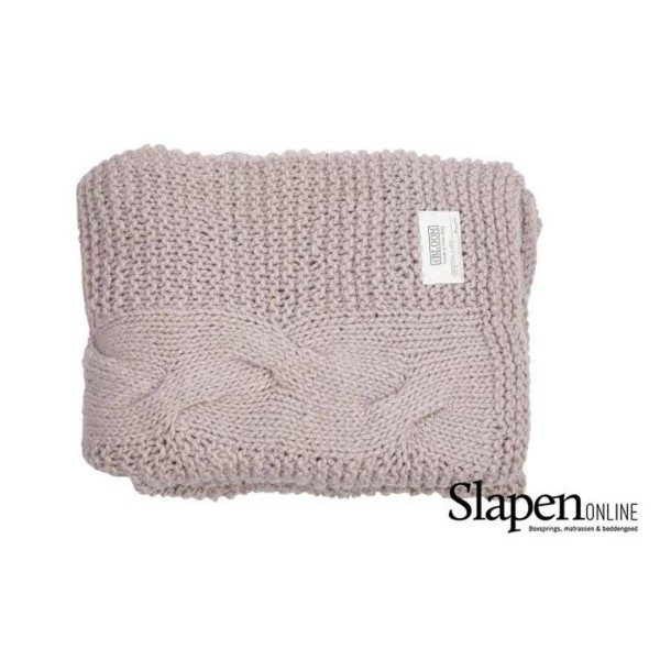 MrsBloom Knitted throw grenoble light pink slapenonline
