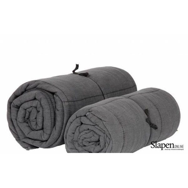 mrsbloom quilted cotton throw charlotte dark grey slapenonline 1