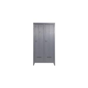 WOOOD Kluiskast Geborsteld Steel Grey