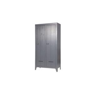 WOOOD Kluiskast Geborsteld Steel Grey Slapenonline