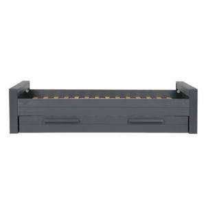 WOOOD Dennis Bed 90x200 Cm Grenen Steel Grey slapen online