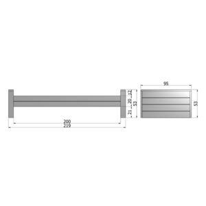 WOOOD Dennis Bed 90x200 Cm Grenen Steel Grey slapenonline