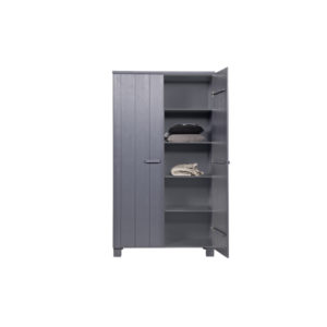 WOOOD Dennis Kast Grenen Steel Grey open