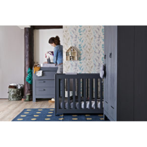 WOOOD New Life Commode Geborsteld Steel Grey Slapenonline kinderkamer