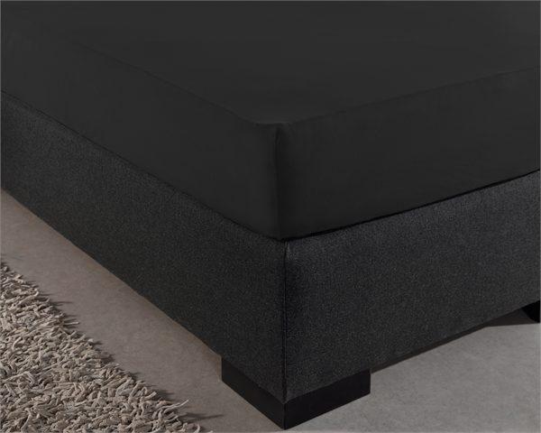 Hoeslaken Jersey 135 gr. Black