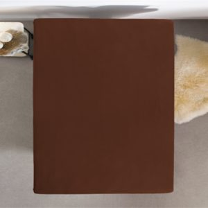 Hoeslaken Jersey 135 gr. Brown