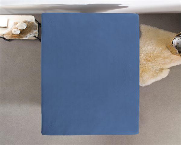 Hoeslaken Jersey 135 gr. Blue