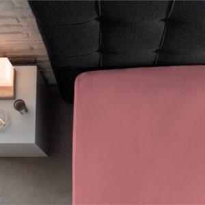 Hoeslaken Jersey 135 gr. Pink