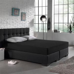 Hoeslaken Jersey 135 gr. [Extra Lang] Black