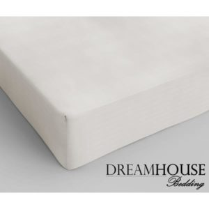 Dreamhouse Bedding Katoen Hoeslaken Cream