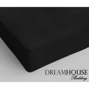 Dreamhouse Bedding Katoen Hoeslaken Black
