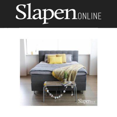 Grijze boxspring - Slapen Online