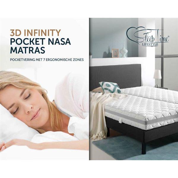 Sleeptime matras 3D Infinity pocket NASA 1 slapenonline